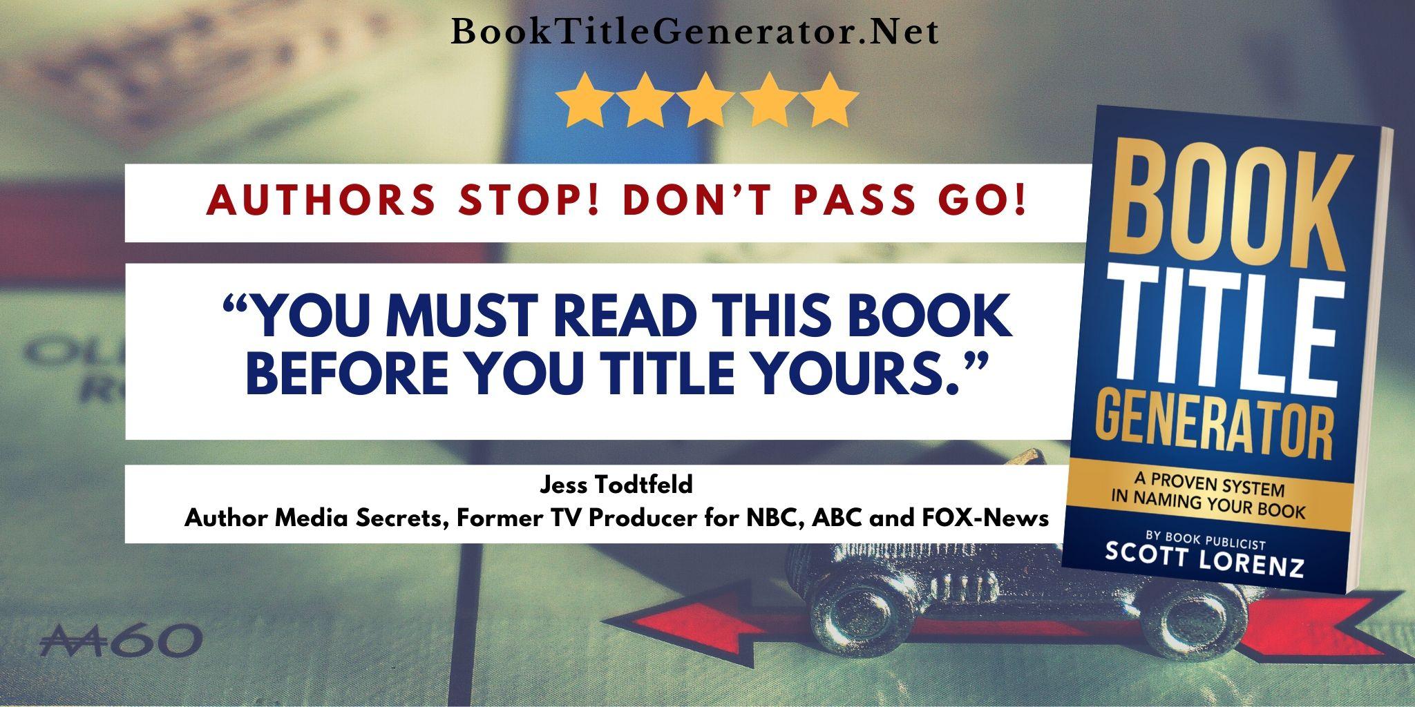 Jess Todtfeld about Book Title Generator