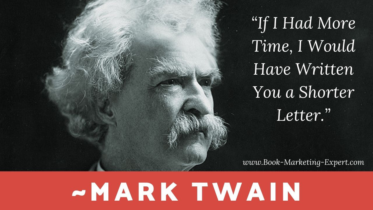 Mark Twain's Quote on the Power of Brevity for Authors